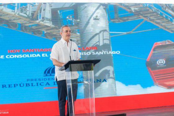 Dejan iniciados trabajos Teleférico Santiago, uno de los componentes del Sistema Integrado de Transporte